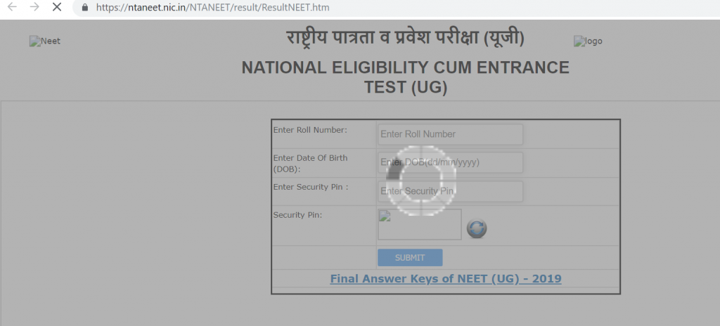 Neet Result 2019 Update Nta Neet Ug Result Declared Nalin Khandewal Is Rank 1 Holder Ntaneet Nic In Know Here How To Check Mad For Word